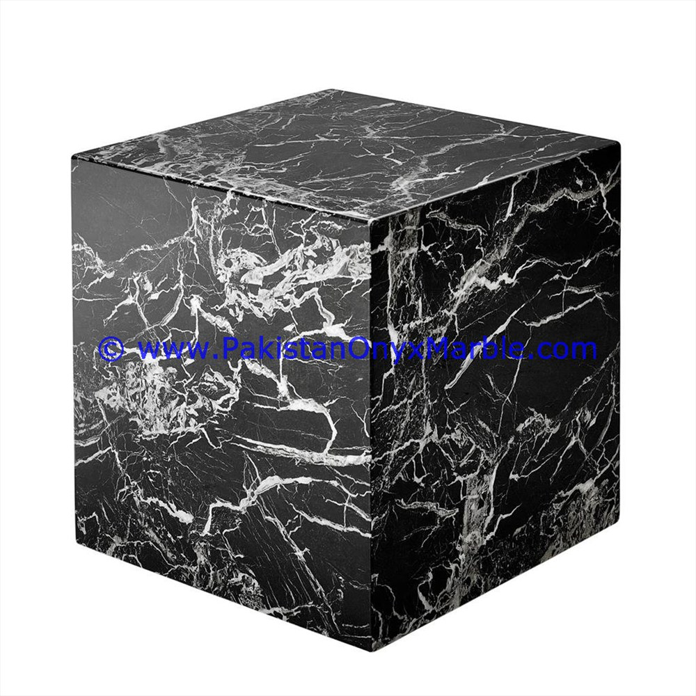 Marble Bookends Cube Square Handcarved Unique Designs