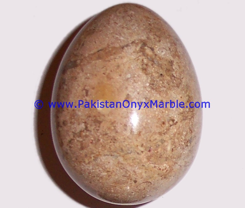 Marble Eggs Decorative Fossil Corel Marble Natural Stone