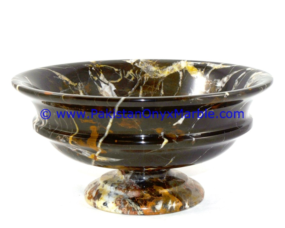 Marble Fruit Bowls Black And Gold Marble Dish Cake Plates