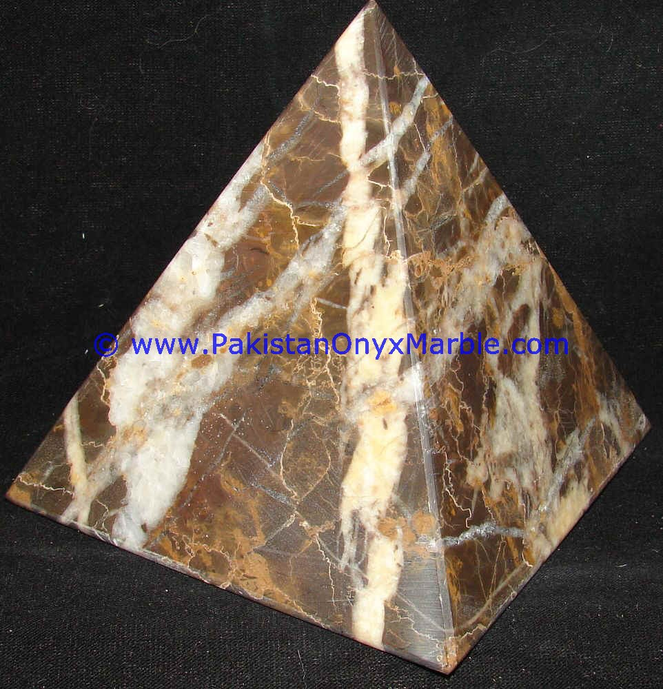 Marble Pyramids Black And Gold Marble Handcarved Polished