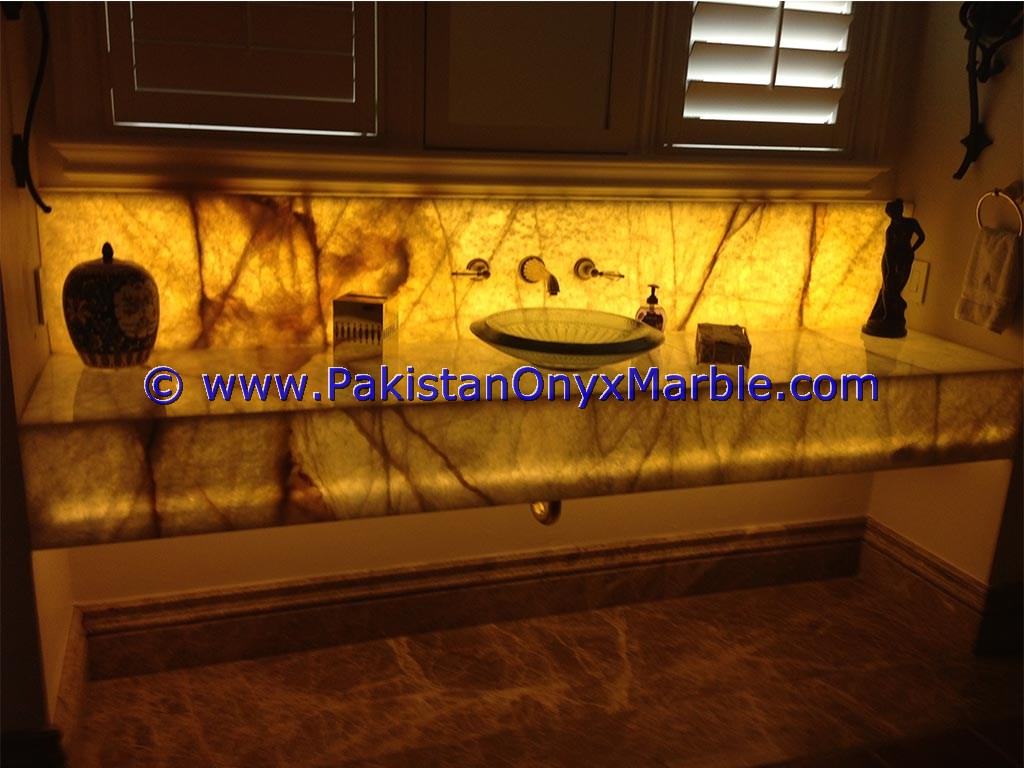 Backlit Onyx bathroom Vanity Tops-09