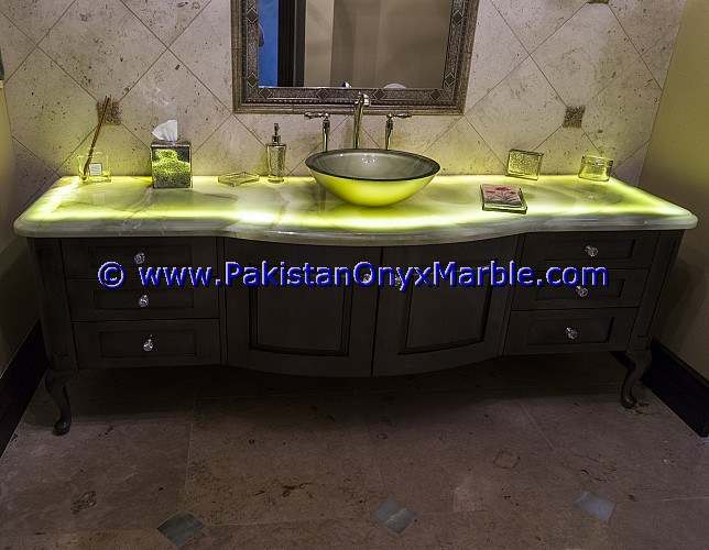 Backlit Onyx bathroom Vanity Tops-11