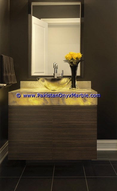Backlit Onyx bathroom Vanity Tops-19