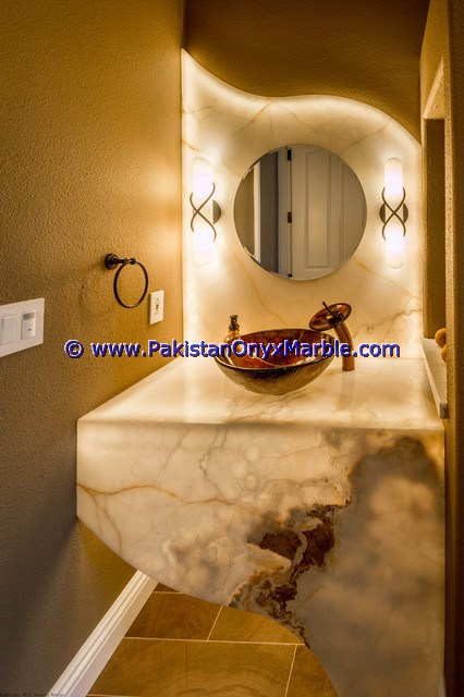 Backlit Onyx bathroom Vanity Tops-21