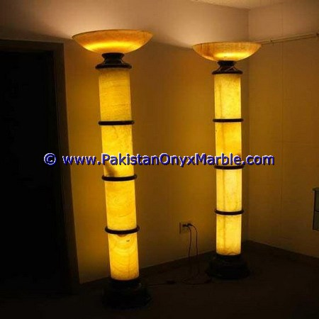Backlit Onyx Columns Pillars and Pedestals-08