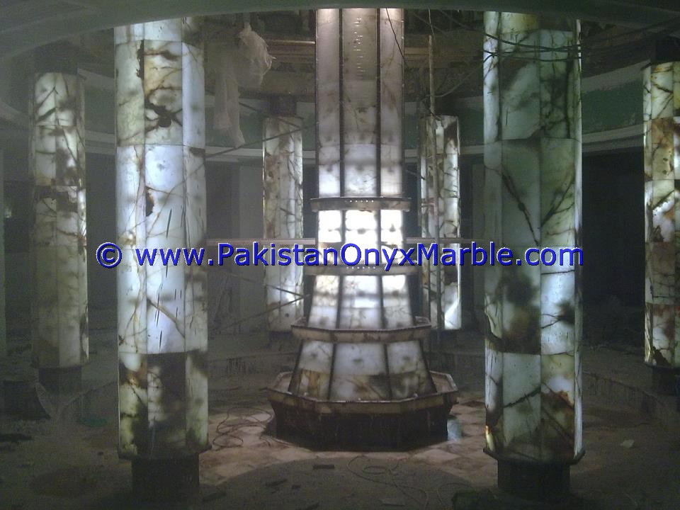 Backlit Onyx Columns Pillars and Pedestals-15