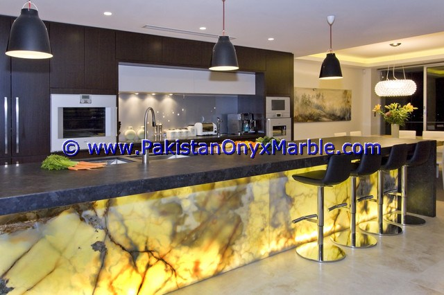 Backlit Onyx Counter Tops Bar Receiptions-12