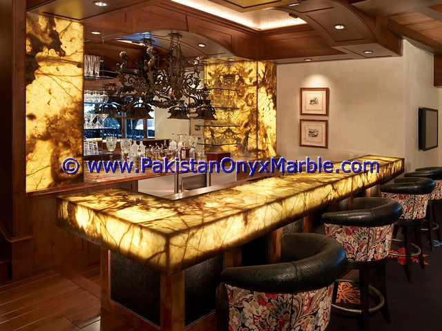 Backlit Onyx Counter Tops Bar Receiptions-14
