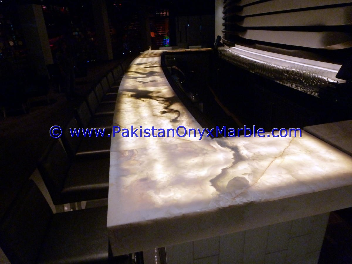Backlit Onyx Counter Tops Bar Receiptions-23