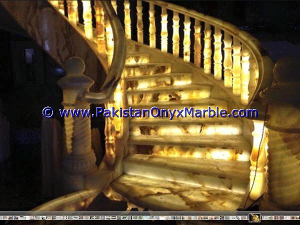 Backlit Onyx Stair Steps risers & Balustrade-05