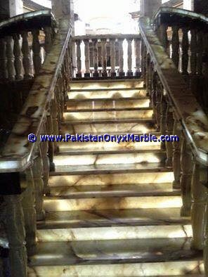 Backlit Onyx Stair Steps risers & Balustrade-06