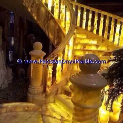Backlit Onyx Stair Steps risers & Balustrade-08