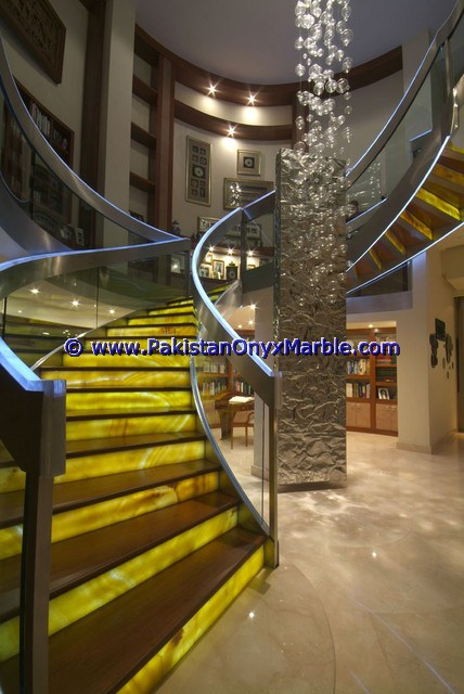 Backlit Onyx Stair Steps risers & Balustrade-09