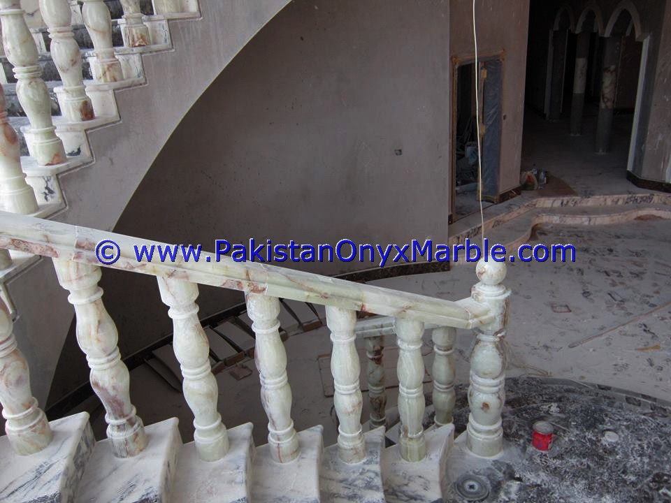 Backlit Onyx Stair Steps risers & Balustrade-12