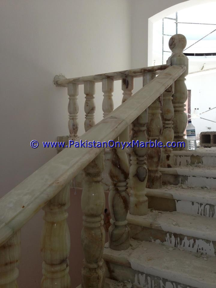 Backlit Onyx Stair Steps risers & Balustrade-15