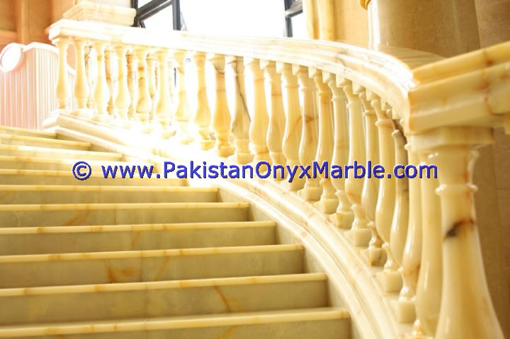 Backlit Onyx Stair Steps risers & Balustrade-20