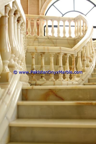 Backlit Onyx Stair Steps risers & Balustrade-21