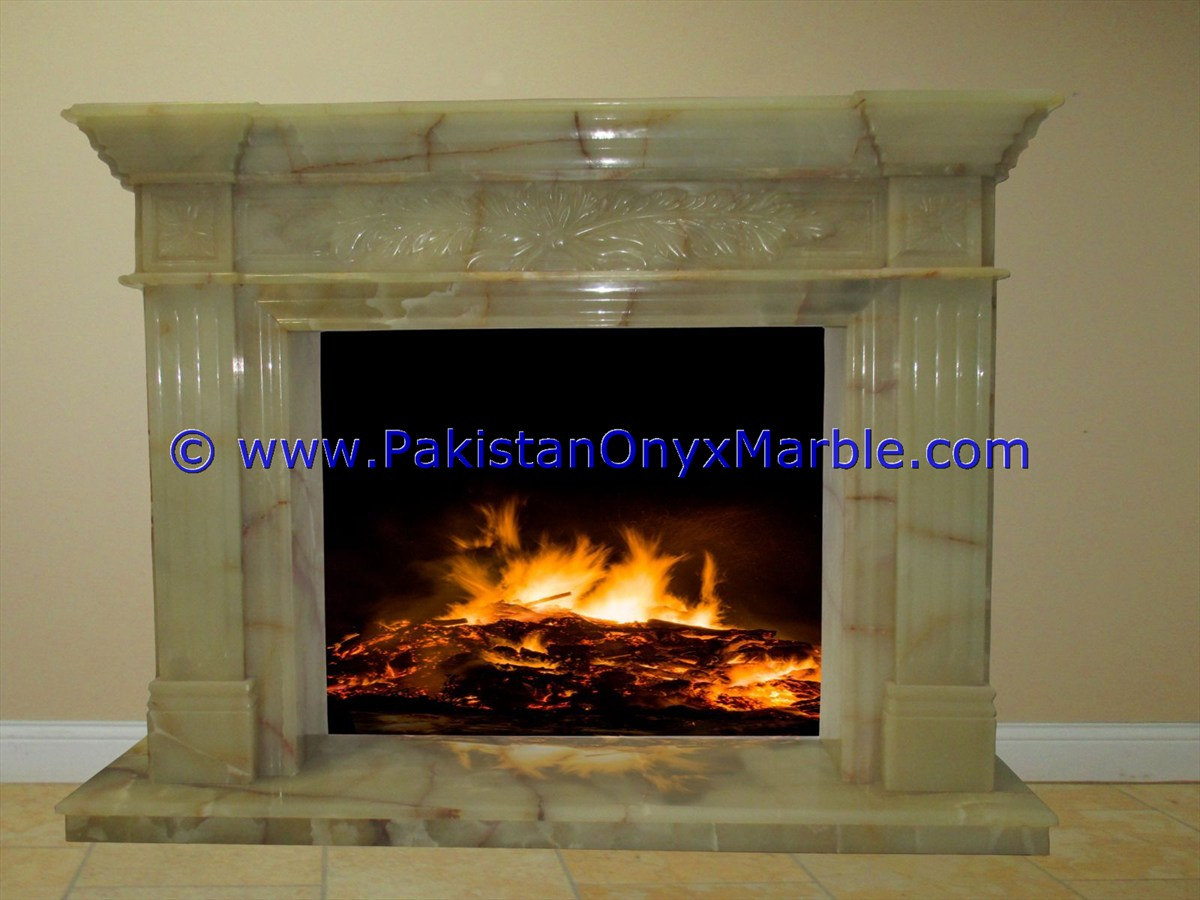 New Design tarvatine fireplace surround onyx fireplace hearth flower sculptured handcarved  fireplace