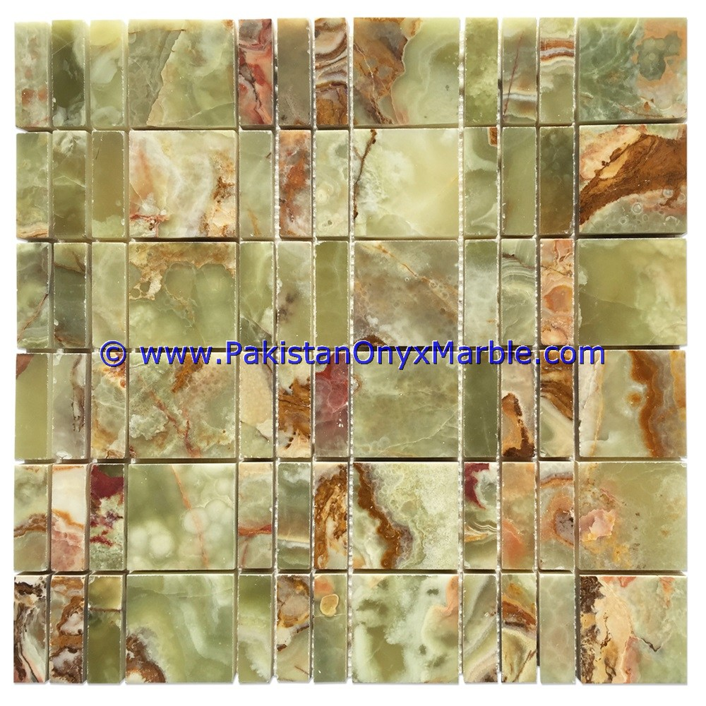Multi Green Onyx Mosaic Tiles