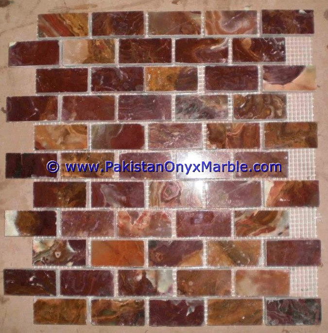 Multi Red Onyx Mosaic Tiles-05