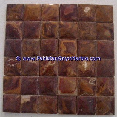 Multi Red Onyx Mosaic Tiles-09