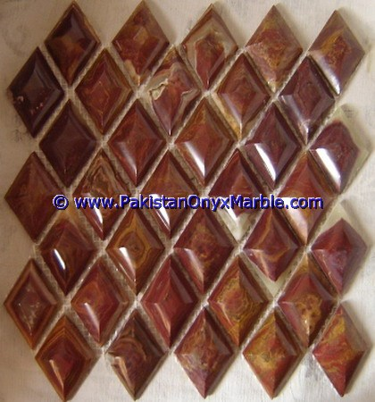 Multi Red Onyx Mosaic Tiles-10