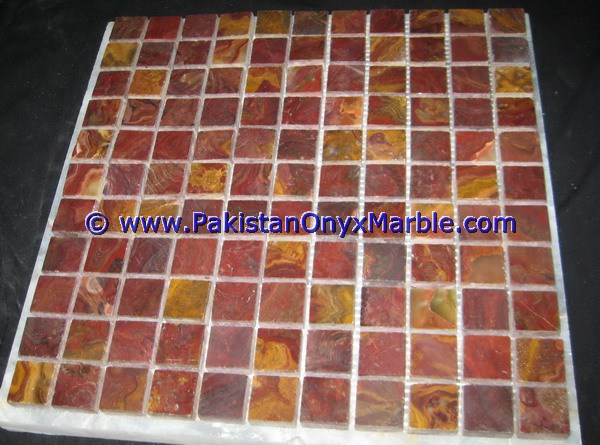 Multi Red Onyx Mosaic Tiles-12