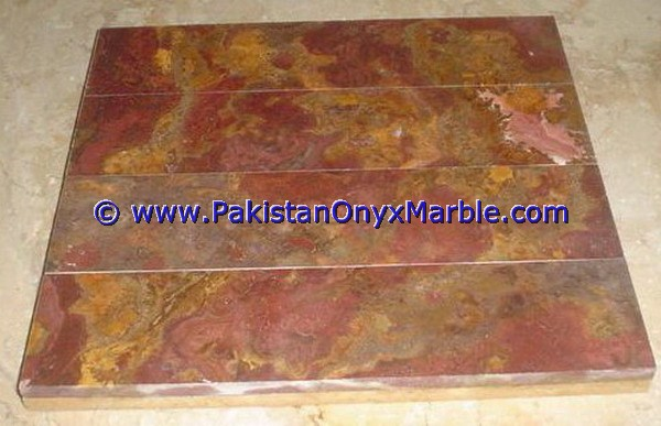 Multi Red Onyx Mosaic Tiles-13