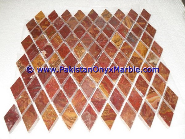 Multi Red Onyx Mosaic Tiles-16