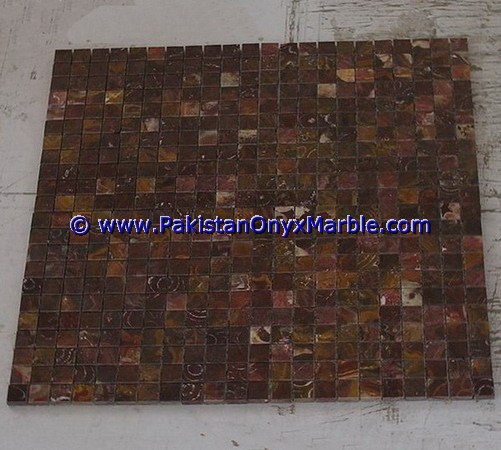 Multi Red Onyx Mosaic Tiles-17