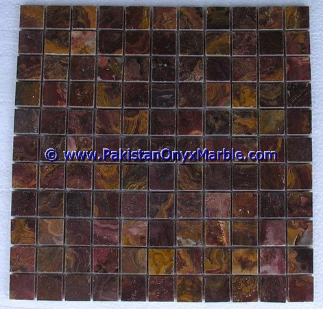 Multi Red Onyx Mosaic Tiles-18