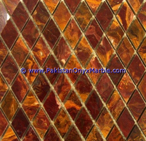 Multi Red Onyx Mosaic Tiles-20