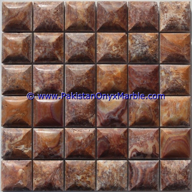Multi Red Onyx Mosaic Tiles-21