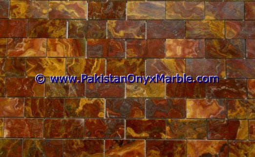 Multi Red Onyx Mosaic Tiles-22