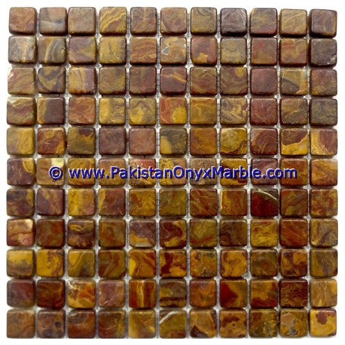 Multi Red Onyx Mosaic Tiles-23