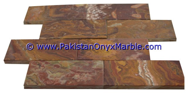 Multi Red Onyx Mosaic Tiles-25