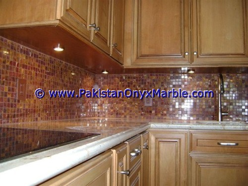 Multi Red Onyx Mosaic Tiles-27