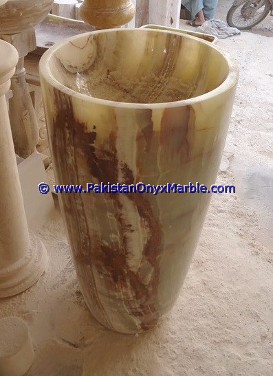 multi green Onyx Pedestals Sinks-04