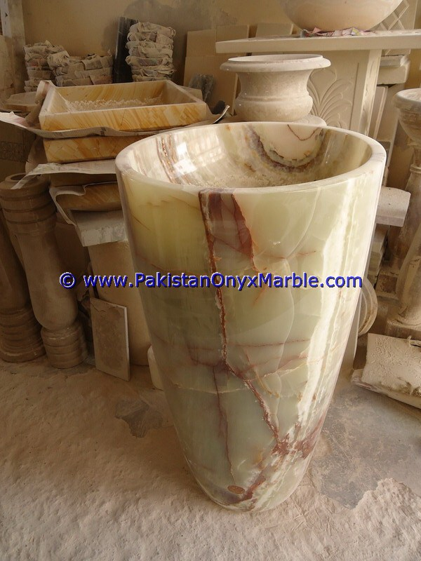 multi green Onyx Pedestals Sinks-05