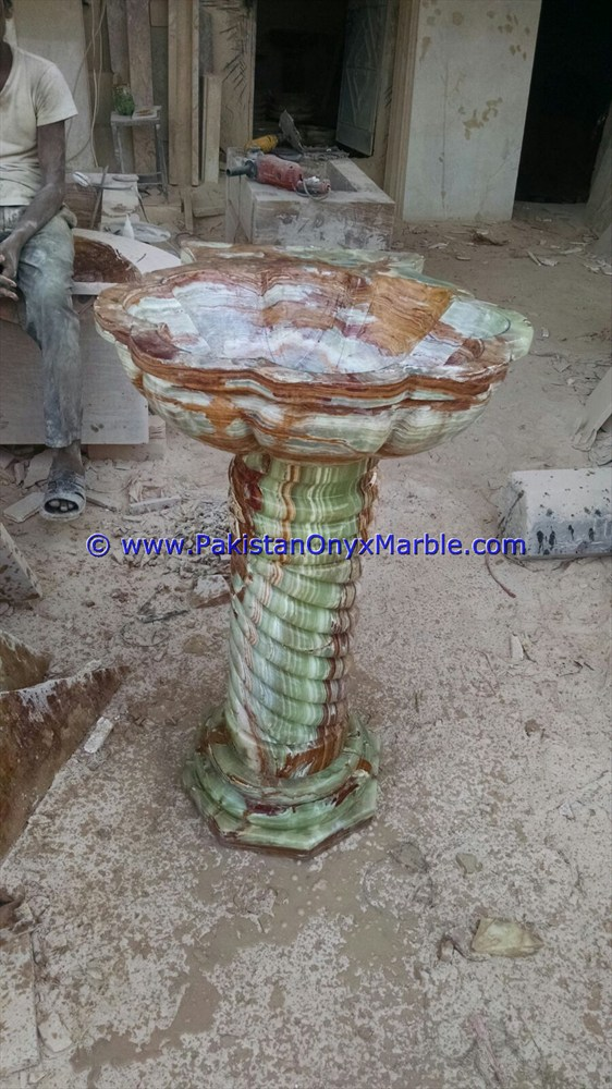 multi green Onyx Pedestals Sinks-10