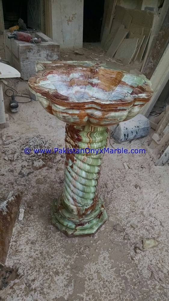 multi green Onyx Pedestals Sinks-11