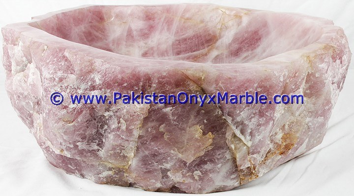 Pink Onyx Rough Face Rectangle Shaped Sinks Basins-02