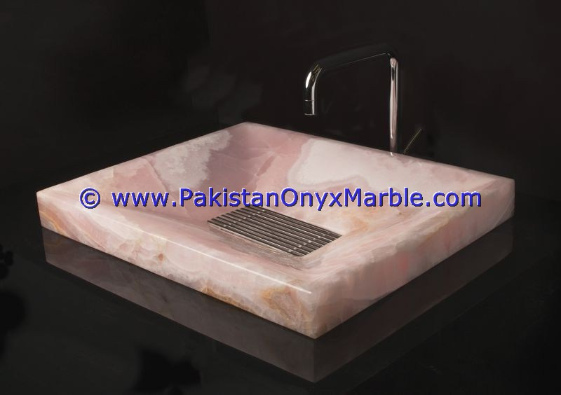 Pink Onyx Square Sinks Basins-02