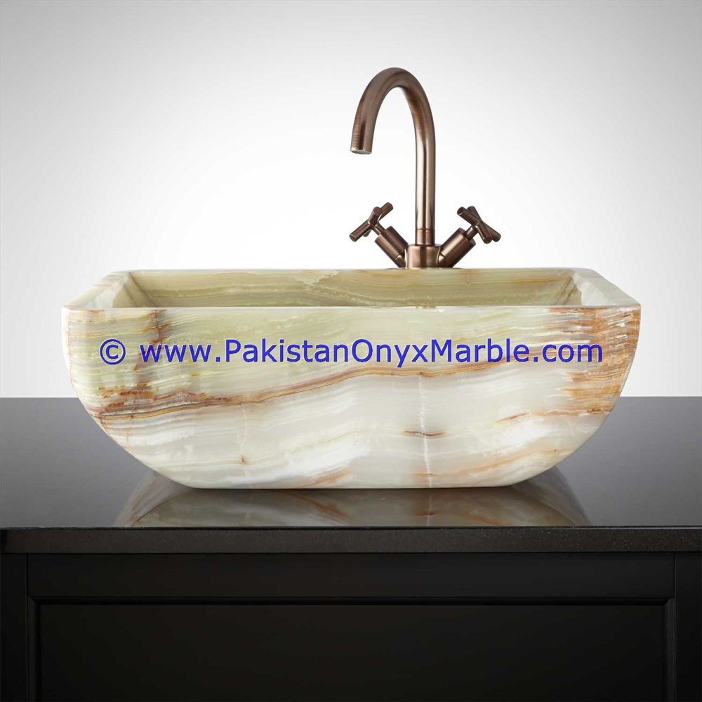Dark Green Onyx Square Vessels Sinks Basins-01