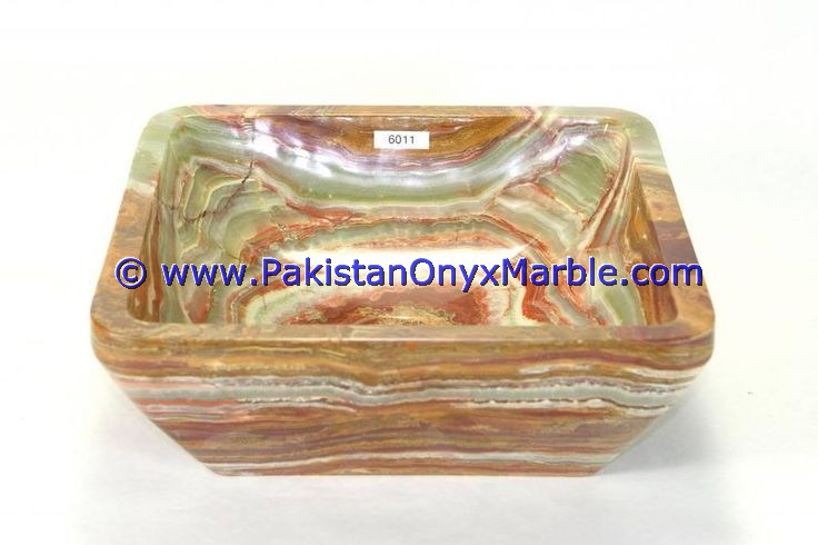 Dark Green Onyx Square Vessels Sinks Basins-03