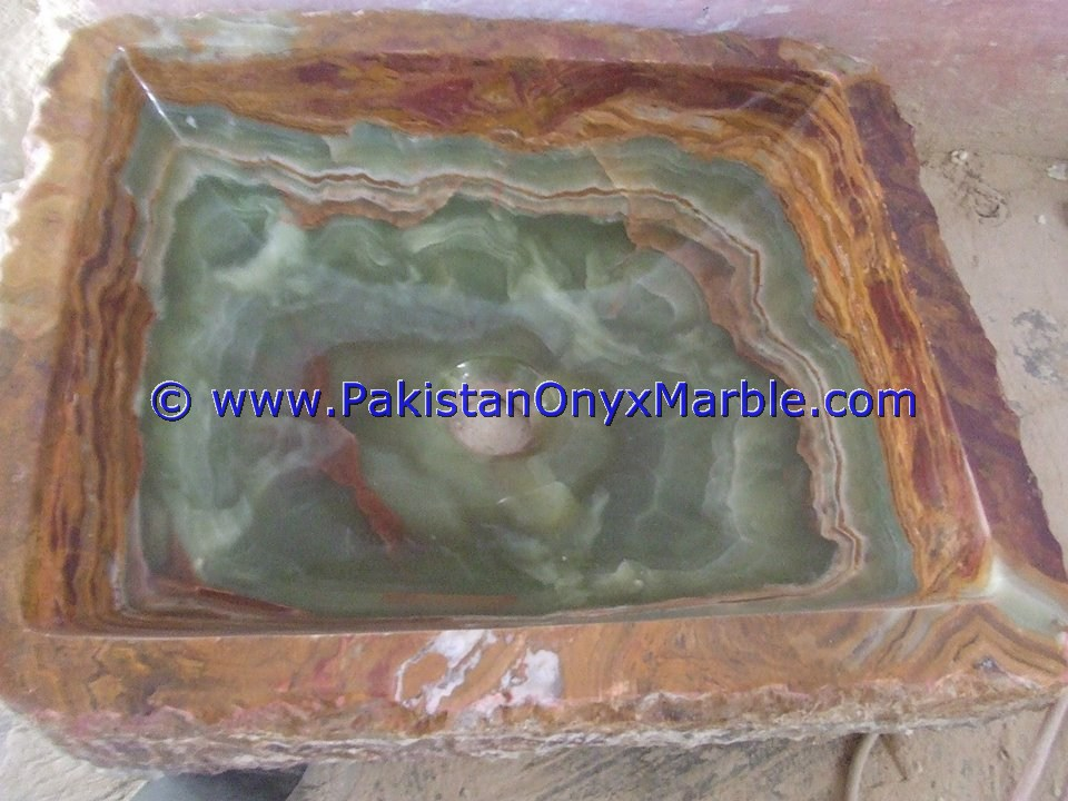 Dark Green Onyx Square Vessels Sinks Basins-05