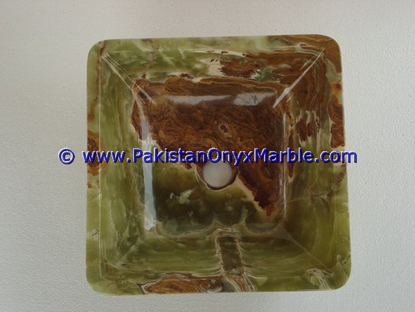 Dark Green Onyx Square Vessels Sinks Basins-06