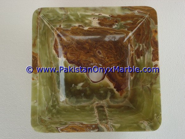 Dark Green Onyx Square Vessels Sinks Basins-07