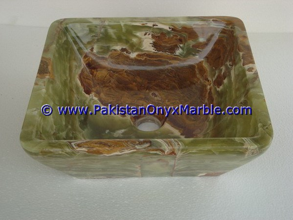 Dark Green Onyx Square Vessels Sinks Basins-08