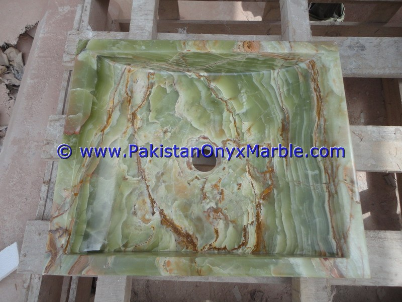 Dark Green Onyx Square Vessels Sinks Basins-09